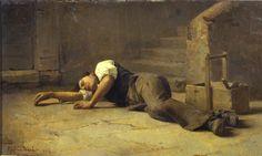 Ghittoni Francesco, Giovane operaio che riposa (Gallera d'Arte Moderna Ricci Oddi, Piacenza)