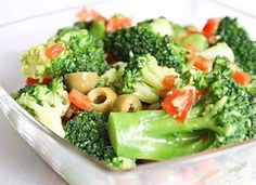 Diet Salad with broccoli Recipe on Yummly. Best Salad Recipes, Raw Food Recipes, Diet Recipes, Vegetarian Recipes, Cooking Recipes, Healthy Recipes, Broccoli Salad, Broccoli Recipes, A Food