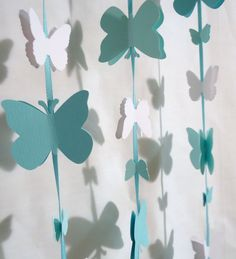 Paper garland. Butterfly Garland. Paper butterfly. wedding garland. Party garland. Tiffany Blue