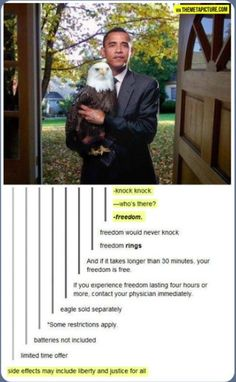 okay this is totes funny, but i want to know why he is holding the eagle in the first place