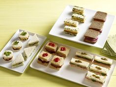50 Tea Sandwiches : Recipes and Cooking : Food Network - FoodNetwork.com. I'm thinking afternoon tea is a good idea for a Mary Poppins party.