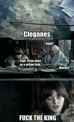 Clegane's words