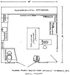 art studio plan idea