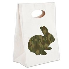 Camouflage Easter Bunny Canvas Lunch Tote > Lunch Bags > Atteestude T-Shirts And Gifts  #school supplies