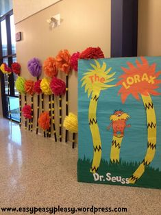 Seuss The Lorax book cover Dr Seuss Decorations, School Decorations, Dr. Seuss, Dr Seuss Week, The Lorax Book, Pete The Cats, Sequencing Activities, Vbs Crafts, Funny Tattoos
