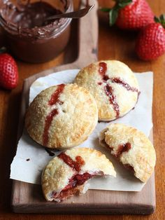 Strawberry Nutella Hand Pies | Completely Delicious