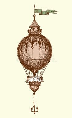 Illustration about Hot air balloon vintage isolated hand drawing. Illustration of journey, rise, graphic - 142237938 Air Balloon Tattoo, Hot Air Balloon, Hot Air Ballon Drawing, Ballon Illustration, Flying Tattoo, Balloon Painting, Vintage Air, Idee Diy, Cool Art Drawings