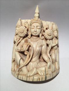 Ivory Buddha. Beginning of  20th cent. India.