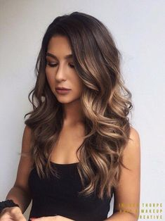 New hair color ideas for brunettes for fall balayage loose waves 65 Ideas Brown Balayage, Hair Color Balayage, Fall Balayage, Winter Hairstyles, Pretty Hairstyles, Wedding Hairstyles, Bob Hairstyle, Hairstyles Haircuts, Hair Color And Cut