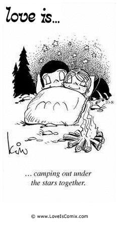 El amor es ... acampar bajo las estrellas juntos.