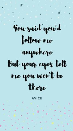 Avicii #Lyrics #WithoutYou