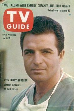 Vincent Edwards as Ben Casey on the cover of TV Guide Jan 1962