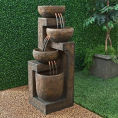 Alpine 3 Tier Cascading Pot Indoor/Outdoor Floor Fountain Item#: ALP527  Our Price: $349.99