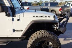 """Jeep Wrangler RUBICON Hood Decals for your Jeep Wangler (all years) Includes: - Left and Right Hood Decals 20"""" x 1.3"""" Precision cut from Premium Quality Oracal Vinyl with 8 year UV Protection Mounted"""