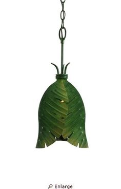 The Varaluz Banana Leaf mini-pendant light is perfect for a tropical decor. I like bringing a little eco-friendly imagery into my home.