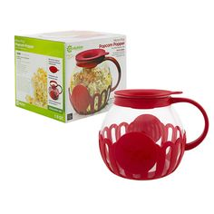 Ecolution Kitchen Extras 1.5-Quart Glass Popcorn Popper, Protective Holder, Multi-Functional Lid