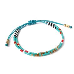 Turquoise Bracelet, Seed Bead Bracelet, Friendship Bracelet, Summer Jewelry, Ocean Blue, Yoga Bracelet, Turquoise jewelry  ✴✴✴ FREE SHIPPING WORLDWIDE ✴✴✴  Details: - Miyuki delica glass beads... Each bead measures 2.2mm outer diameter. - Linhasita waxed polyester cord 1mm, waterproof  These beaded bracelets are very fine and delicate, perfect for stacking but also cute on their own. Combine them to fit your personal style... Please visit ✴ Tocco Di Lustro (Touch Of Glow) ✴ https:/&#x2F...
