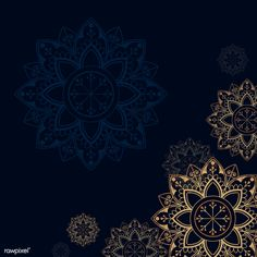 Gold mandala on navy blue background vector free image by sasi Poster Background Design, Banner Background Images, Navy Blue Background, Islamic Background Vector, Framed Wallpaper, Iphone Background Wallpaper, Islamic Art Pattern, Pattern Art, Mandala Design