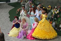 Disney Princess Photo Shoot! Valentine's Day 2012 at the Disney Princess Fantasy Faire in Fantasyland, Disneyland.
