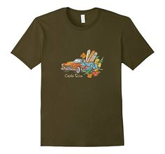 Men's Costa Rica Surfing Head South T-shirt Olive