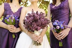 Lilac flower arrangement for wedding party