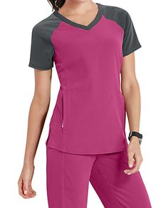 Beyond Scrubs Active Sophie Color Block Scrub Tops Jaanuu Scrubs, Stylish Scrubs, Nursing Clothes, Scrub Tops, Work Attire, Fashion Beauty, Women's Fashion, Graphite, How To Wear