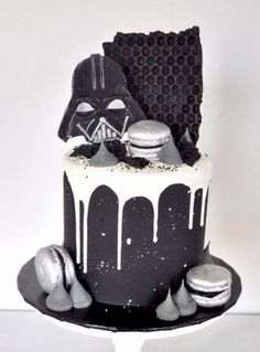 Star Wars birthday party ideas Star Wars birthday party ideas - Star Wars Cake - Ideas of Star Wars Cake - Star Wars birthday party ideas Star Wars birthday party ideas Birthday Cake Cookies, Birthday Cakes For Men, Star Wars Birthday Cake, Cookie Cake Birthday, Birthday Cake Decorating, Cakes For Boys, Birthday Ideas, 40th Birthday, Birthday Sayings