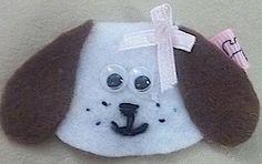 Felt Sculptured Doggie Hair Clip | Jenstardesigns - Accessories on ArtFire