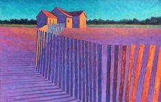 Pastoral Glow: Peter Batchelder, New England Artist & Master of Light Contemporary Landscape, Abstract Landscape, Landscape Paintings, Abstract Art, Pop Art, Pastel Art, Painting Inspiration, Cyberpunk, Painting Prints