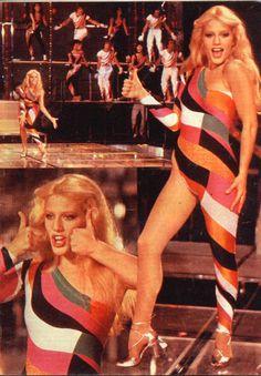 Heather Parisi – Disco Bambina, That bodysuit.it hurts my eyes! Writes a pinner Disco Fashion, 70s Fashion, Fashion History, Vintage Fashion, Josephine Baker, Nostalgia, Italo Disco, Studio 54, Disco Party