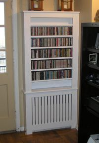 radiator cover shelves above - Google Search
