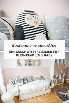 Kinderzimmer einrichten: Ein Geschwisterzimmer für Kleinkind und Baby #kinderzimmer #kinderzimmerdeko #geschwisterzimmer #babzimmer