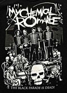The Black Parade is Dead ~ My Chemical Romance Poster My Chemical Romance Poster, My Chemical Romance Shirts, My Chemical Romance Wallpaper, Helena My Chemical Romance, Black Parade, Gerard Way, Emo Bands, Music Bands, Rock Bands