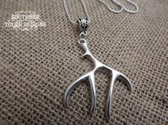 deer antler necklace silver deer necklace by SouthernTouchDesigns Antler Necklace, Dainty Necklace, Trendy Necklaces, Silver Necklaces, Browning Deer, Deer Antlers, Unique Jewelry, Handmade Gifts, Country