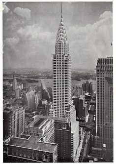 chrysler building from lincoln building may 1931 by eralsoto, via Flickr