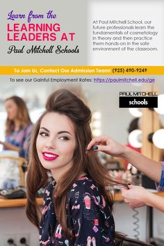 At Paul Mitchell School, our future professionals learn the fundamentals of #cosmetology in theory and then practice them hands-on in the safe environment of the classroom.