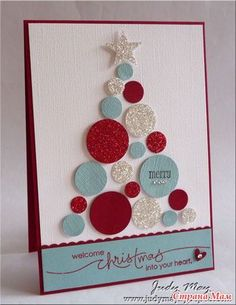 stampin up Christmas cards to make Christmas Tree Cards, Stampin Up Christmas, Noel Christmas, Xmas Cards, Handmade Christmas, Xmas Tree, Aqua Christmas, Simple Christmas, Christmas Decor