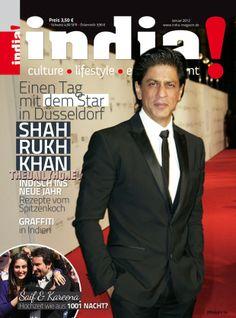 SRK - India! magazine cover January 2012