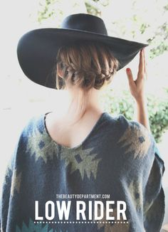 beauty department low rider bcbg hat-and other hat tricks!  Ie how to wear a hat!!! #Hat #HowToWearAHat