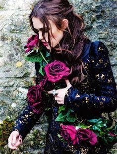 ruescenic: Keira Knightley for Harper's Bazaar UK Photographed by Ellen Von Unwerth