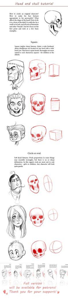Prev3Head and skull tutorial by MisterKay.deviantart.com on @DeviantArt
