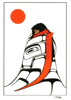 Wrapped in culture - Jean Gamble Modern Indian Art, Native Canadian, Indian Artwork, Raven Art, Haida Art, Tlingit, Native Design, Native American Artists, Coastal Art