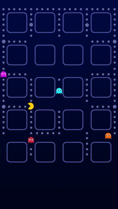Pacman Game iPhone 5 Wallpaper