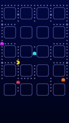 Pacman Game iPhone 5 Wallpaper