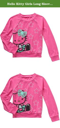 Hello Kitty Girls Long Sleeve Pullover Fashion Top (XS (4/5)). Girls will love this soft Hello Kitty long sleeve pullover top. It is super soft with Hello Kitty on the front with a 3D knit bow.