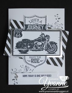 stampin up bestellen, one wild ride, motor kaart, vaderdag