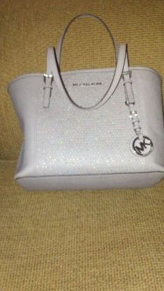 Michael Kors MicroStud Center-Stripe Small Travel Tote - Pearl Gray #MichaelKors #Unspecified