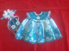 Handmade Crochet Newborn Baby Girl Dress Set - Turqouise and White by MiBeba on Etsy https://www.etsy.com/listing/220308350/handmade-crochet-newborn-baby-girl-dress