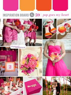 Orange and Pink Wedding Inspiration | Elegance & Enchantment.   Photography by: Brittany Lauren Photography, Andi Grant Photography, Becca Rillo Photography, The Nichols, paper antler and Birds of a Feather.
