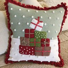 Cozy Christmas pillow LoveCrafts, the new home of LoveKnitting - . Cozy Christmas pillow LoveCrafts, the new home of LoveKnitting - knitting is as easy as 3 Knitting boils down to t. Crochet Christmas Cozy, Christmas Afghan, Cosy Christmas, Christmas Sewing, Christmas Pillow, Christmas Knitting, Christmas Cushions To Make, Free Christmas Crochet Patterns, Crochet Snowman